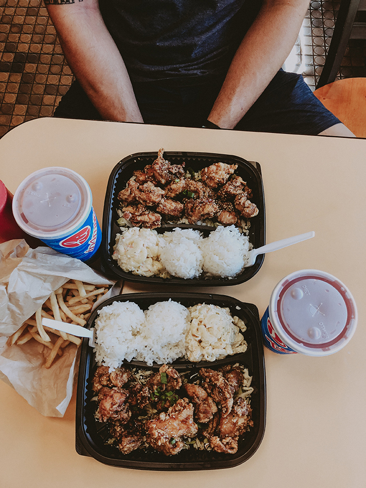 Food from a Honolulu restaurant.