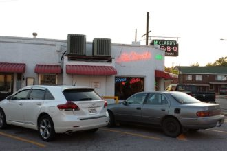 The outside of McClards Bar-B-Q.