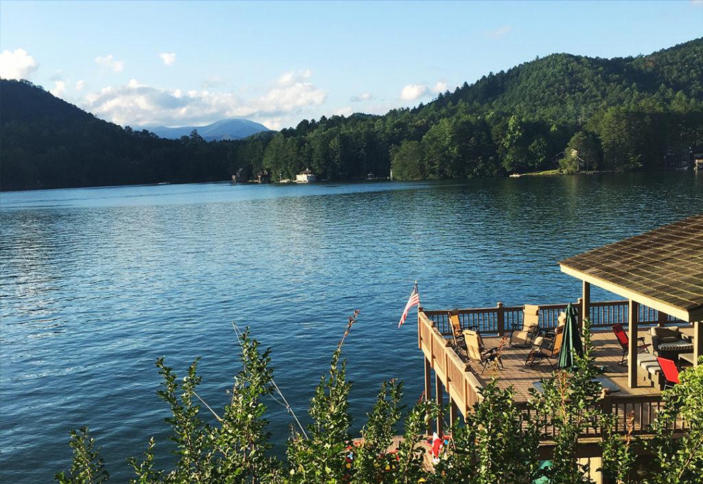 The lake in Lake Burton, Georgia.