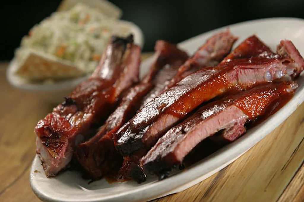 A plate of barbecue from McClards.