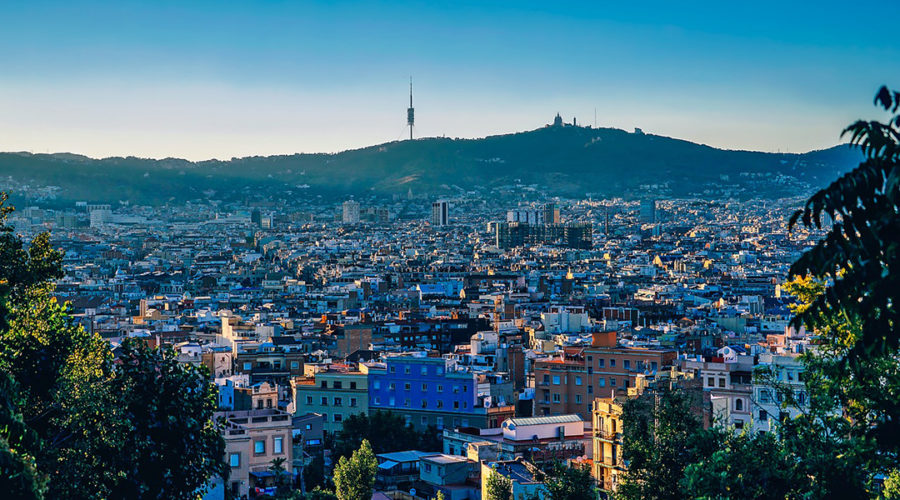 A city view of Barcelona, Spain.