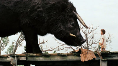A publicity photo from the film Beasts of the Southern Wild.