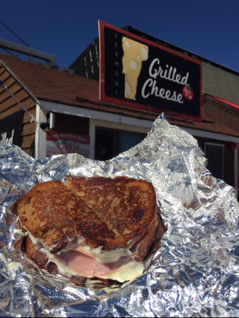 A grilled cheese sandwich from a Vermont restaurant.