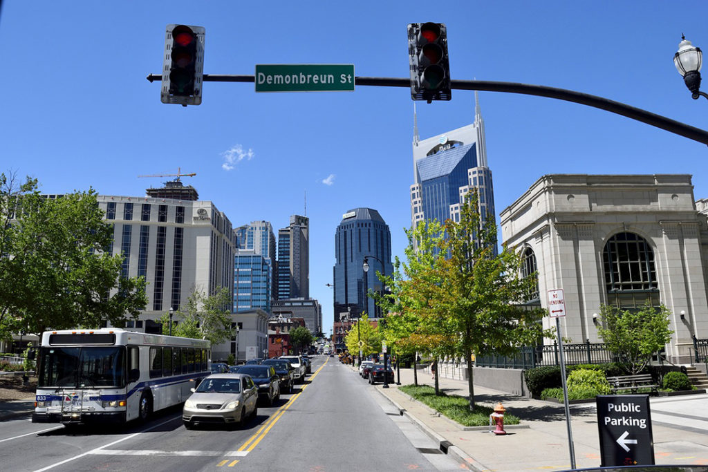 A shot of the city in Nashville.