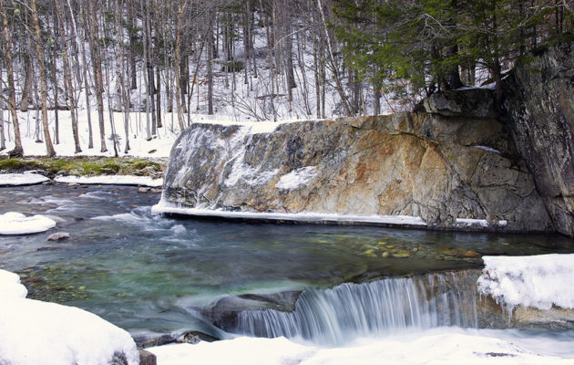 A winter stream in Vermont.
