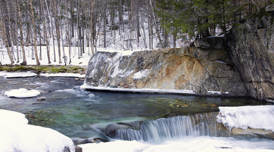 A winter stream in Vermont.